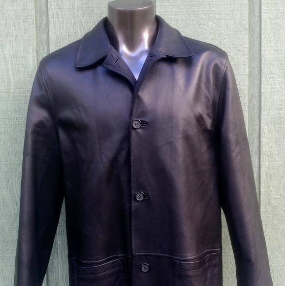 6f1896a4 Ermenegildo Zegna Men's Leather Jacket, SZ L/52